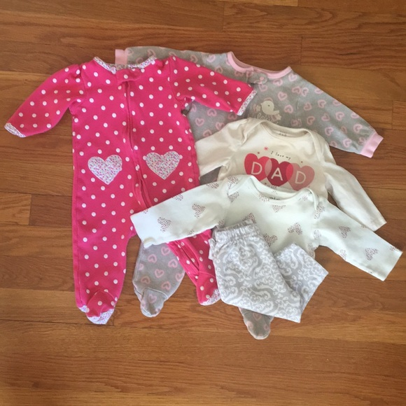 Chick Pea/'s Best Friends Baby Girl Pink 7-Piece Set Size 0-3 and 3-6 Months